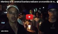Miembros de la Juventud  Duartiana realizaron un encendido de velas