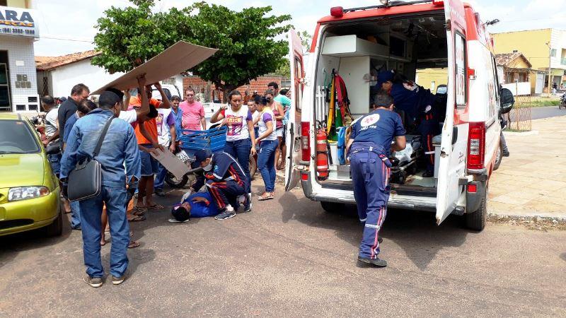 Acidente de trânsito deixa rapaz ferido em Esperantina