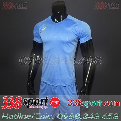 Áo Bóng Đá Không Logo Hot Nike TB SPH02 Xanh Nhạt
