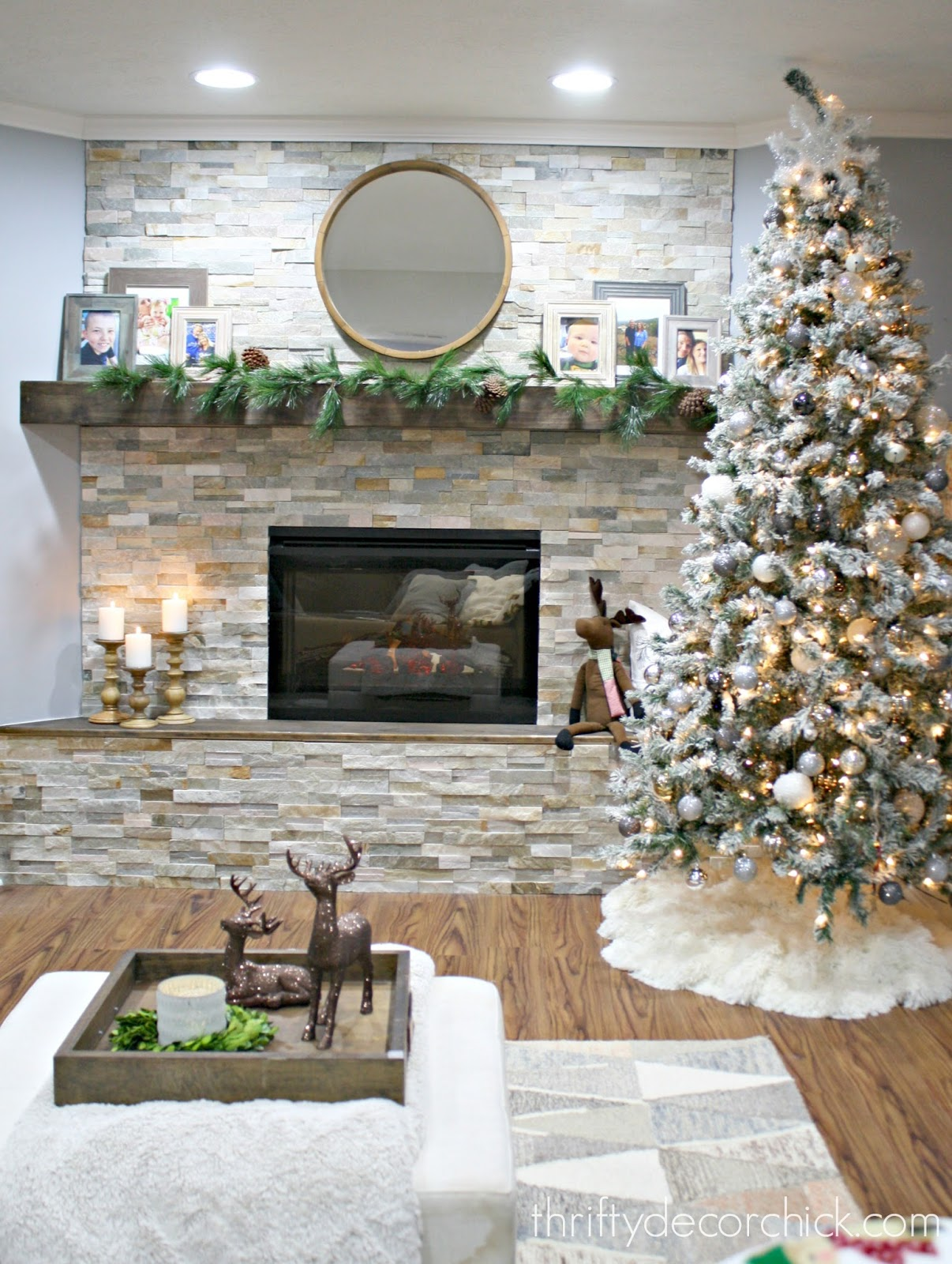 DIY stacked stone fireplace (where there was none!) from ...