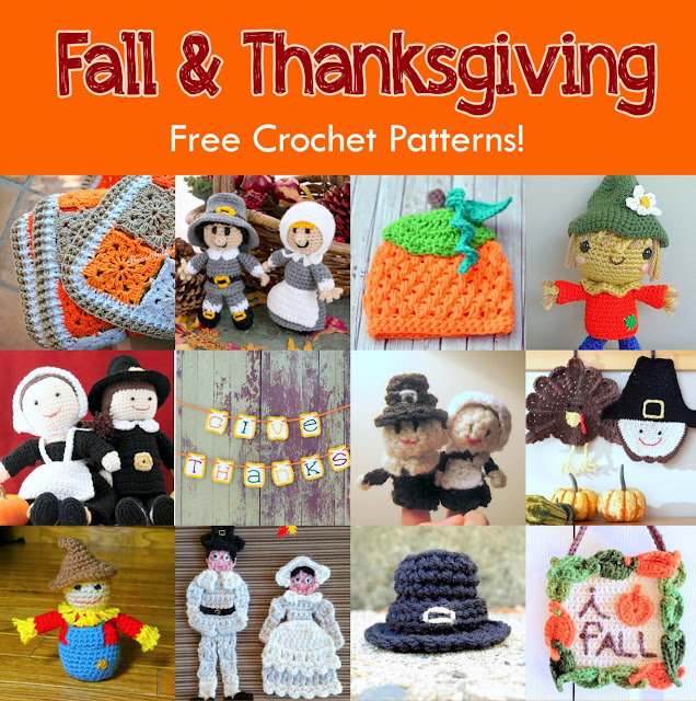 12 Free Fall & Thanksgiving Crochet Patterns