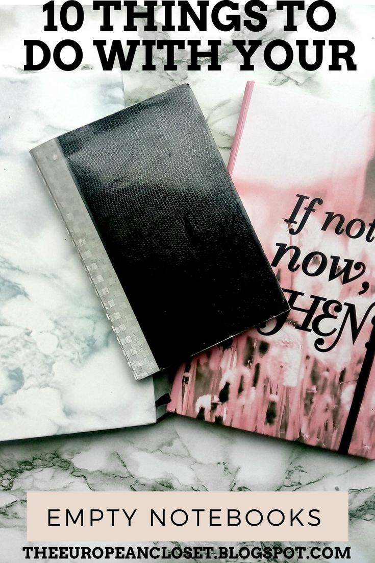 10 things to do with your empty notebooks the european for Things that are empty