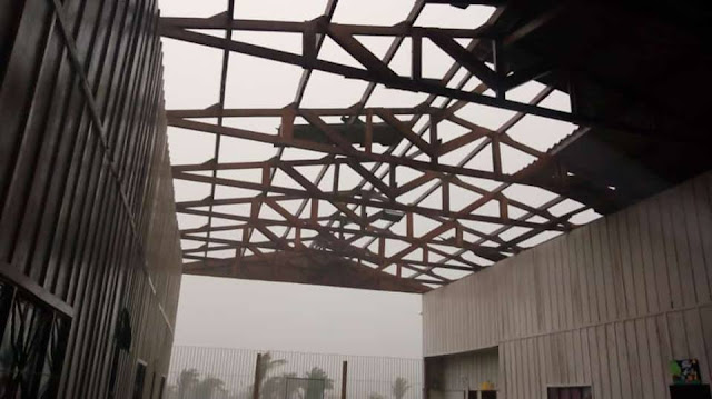 Temporal destrói telhado de escola em Nova Mamoré