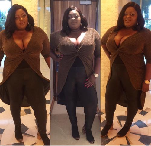 Eniola Badmus Flaunts Cleavage In New Photos