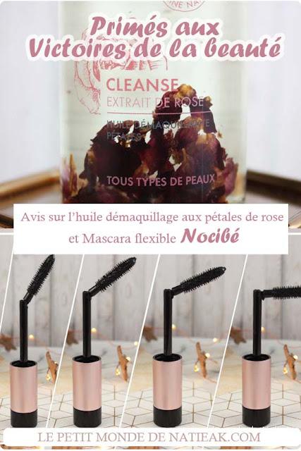 huile démaquillante Cleanse pétale de rose et mascara flexible