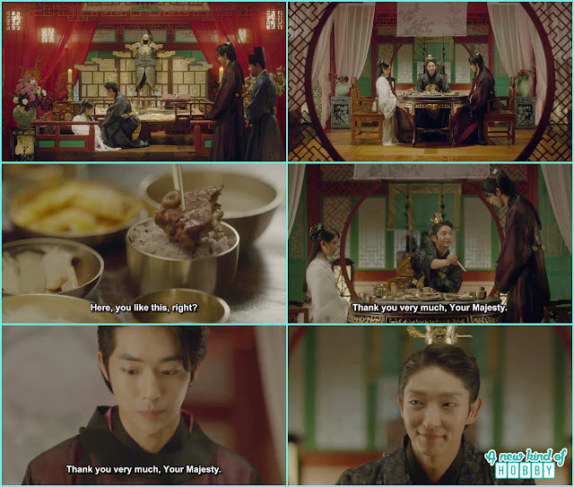 Wang so give meat on baek ah rice he unexpectidly get up and thanks - Moon Lovers Scarlet Heart Ryeo - Episode 17 (Eng Sub)