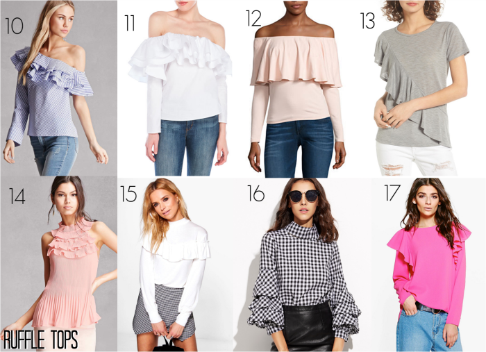 Spring Trends Ruffle off-the-shoulder Ruffle long sleeve top