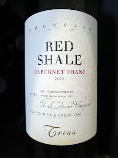Trius Showcase Red Shale Cabernet Franc 2012 (91 pts)