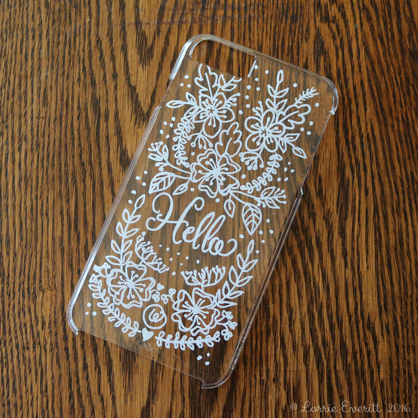 Lorrie Everitt Studio: personalize your clear phone case ...