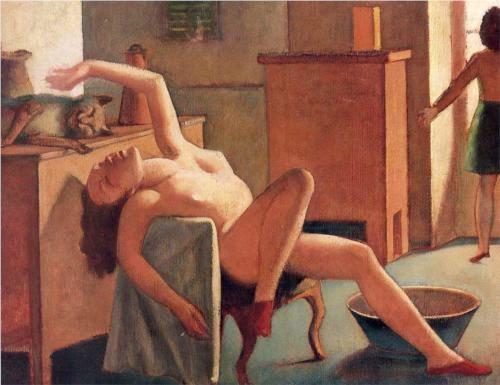 Nu com Gato - Balthus e sua fixação por garotas e gatos ~ Pintor francês