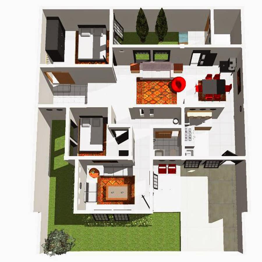 desain interior rumah minimalis type 45  desain interior