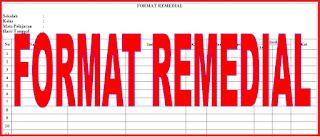 Format Remedial Evaluasi Belajar Siswa
