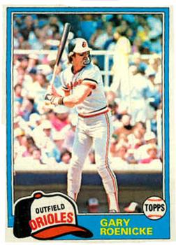 Baseball Cards Come To Life 1981 Topps Gary Roenicke