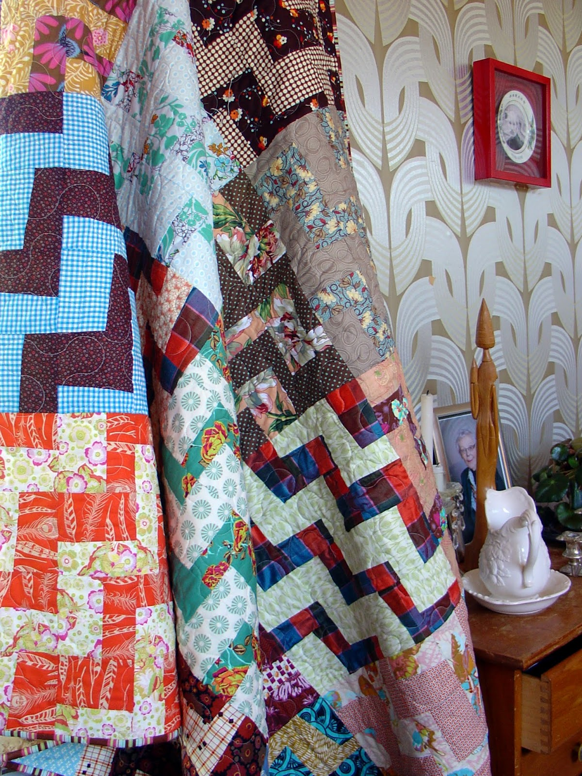 kokaquilts: retro rail fence quilt {a finish}