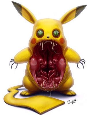 assustador desenho Pikachu