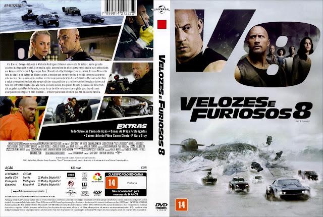 Capa DVD Velozes e Furiosos 8 (Oficial)