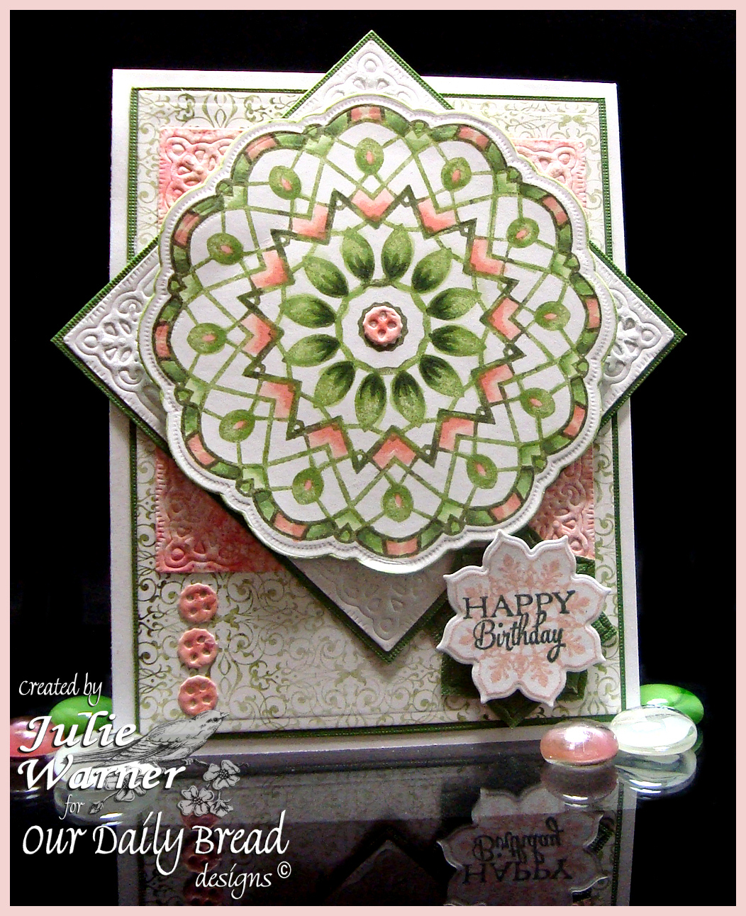 Stamps - Our Daily Bread Designs Doily Blessings, Birthday Doily, Ornate Borders and Flowers, ODBD Custom Doily Dies, ODBD Custom Ornate Flowers & Borders Die