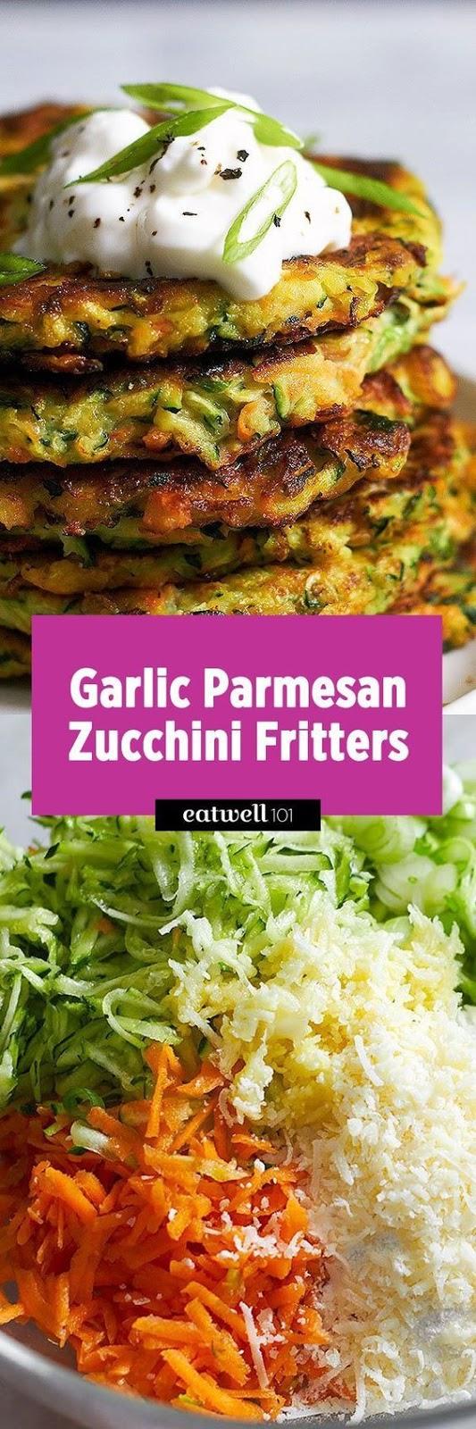 Crispy Garlic Parmesan Zucchini Fritters #crispy #garlic #parmesan #zucchini #fritters #healthysnack #healthyfood #healthyrecipes #snackrecipes #easysnackrecipes