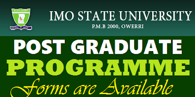 IMSU Postgraduate Admission Form 2017/2018   Imo State University Master's Degree Program