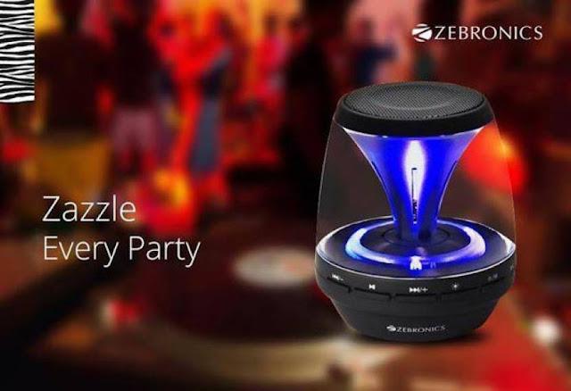 2. Zebronics ZEB-BT015CF – Sparkle Bluetooth Speaker