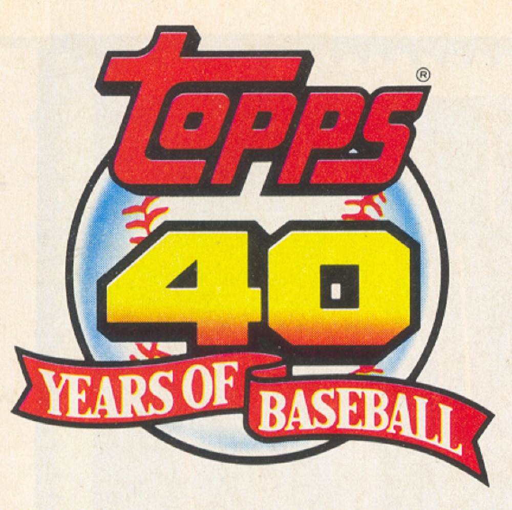 Bdj610s Topps Baseball Card Blog A Unique 40th Birthday Present