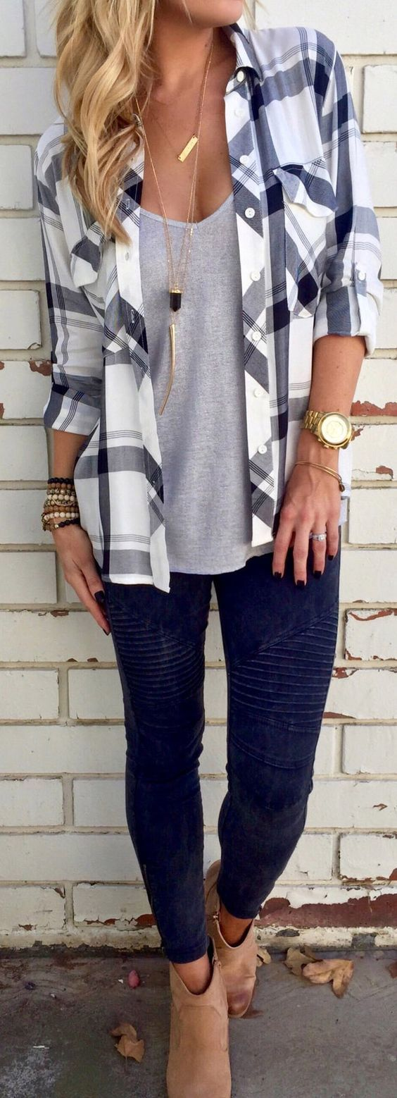outfit of the day: shirt + top + jeans