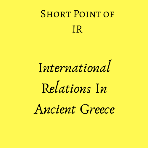 International relations in Ancient Greece