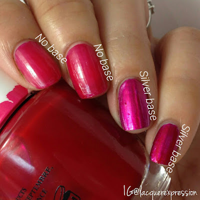 swatch of magenta muse nail polish from the opi color paint collection