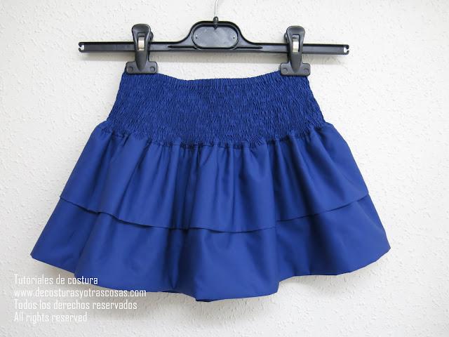 falda cintura engomada