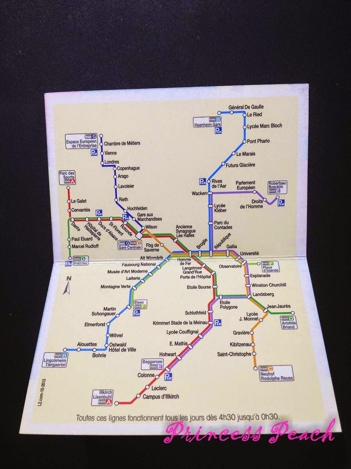 史特拉斯堡交通地圖