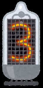 ニキシー管のイラスト(3)