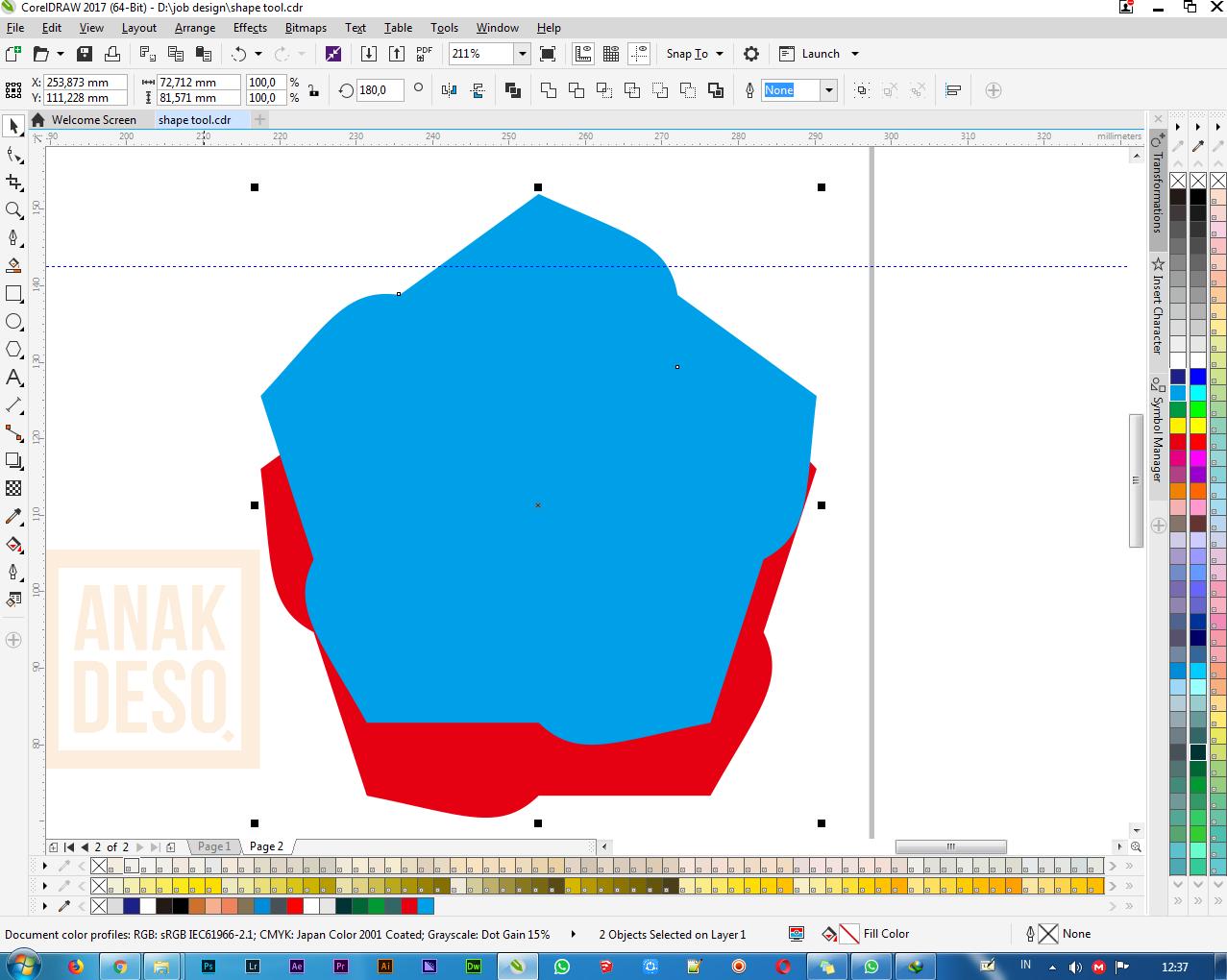Cara Membuat Logo Segi Lima Dengan Shape Tool   Anakdeso.com