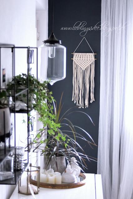 Boho Style Dekoration mit Makramee Wandbehang