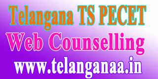 Telangana TS PECET Web Counselling Dates TSPECET 2018 Web Counselling
