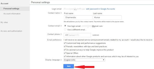 Adsense Address (PIN) Verification Process Complete