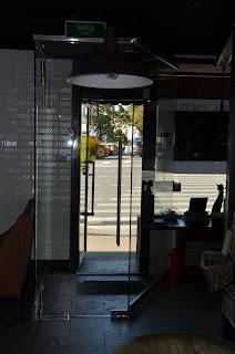 Стеклянная входная дверь