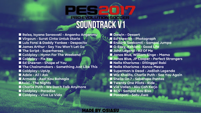 New Soundtrack PES 2017