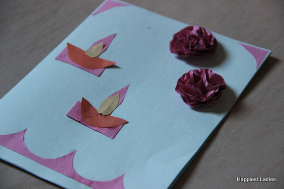 Origami craft papers for making greeting cards