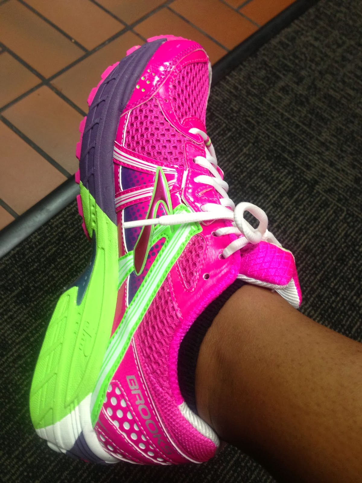 Neon Pink Brooks Running Shoes