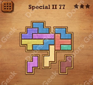 Cheats, Solutions, Walkthrough for Wood Block Puzzle Special II Level 77