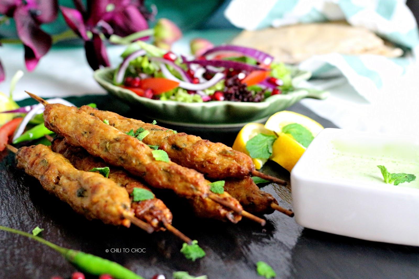 Baked Seekh Kabab (Ground Meat Skewers)