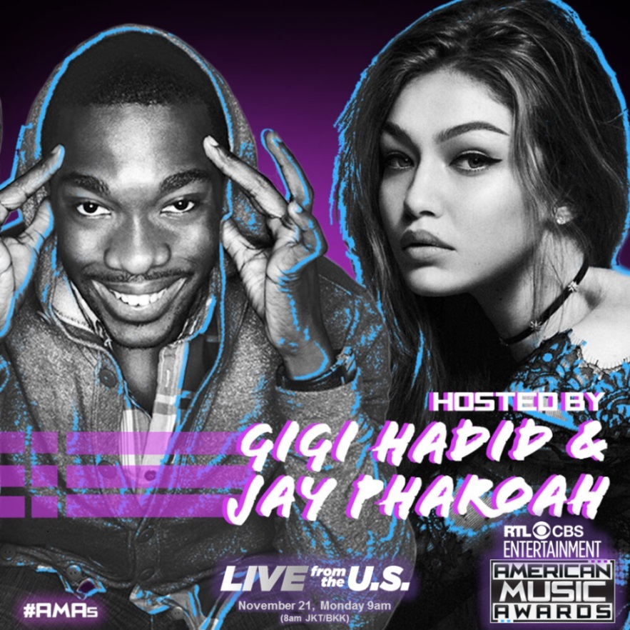 AMAs HOSTS Gigi Hadid & Jay Pharoah