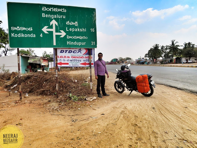Hyderabad to Lepakshi Driving