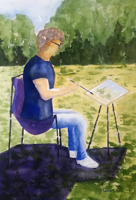Plein Air Artist - Watercolor - JKeese