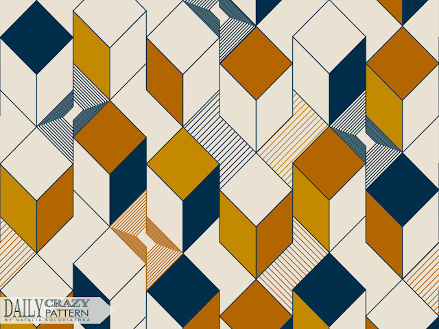 "Cool geometric tile pattern for ""Daily Crazy Pattern"" project"