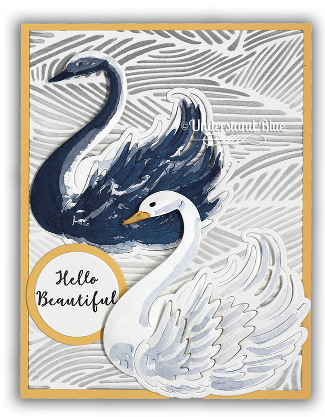 Paper Layering Swan Card by Understand Blue