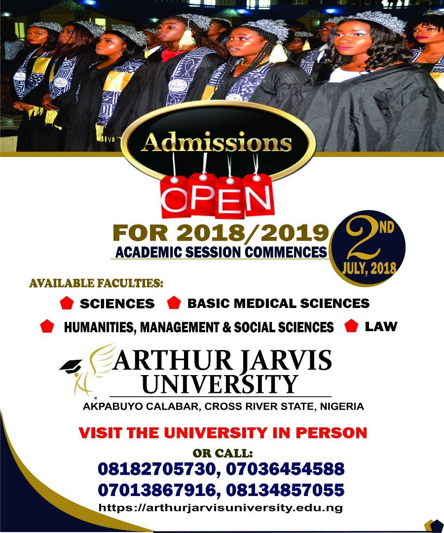 Arthur Jarvis University Post UTME Form