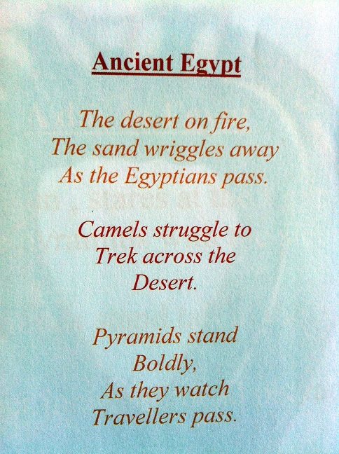 Personification Of Objects Poems Excerpts From Egyptian