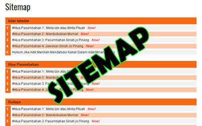 Cara Cepat Membuat Halaman Sitemap Blog Dengan Mudah