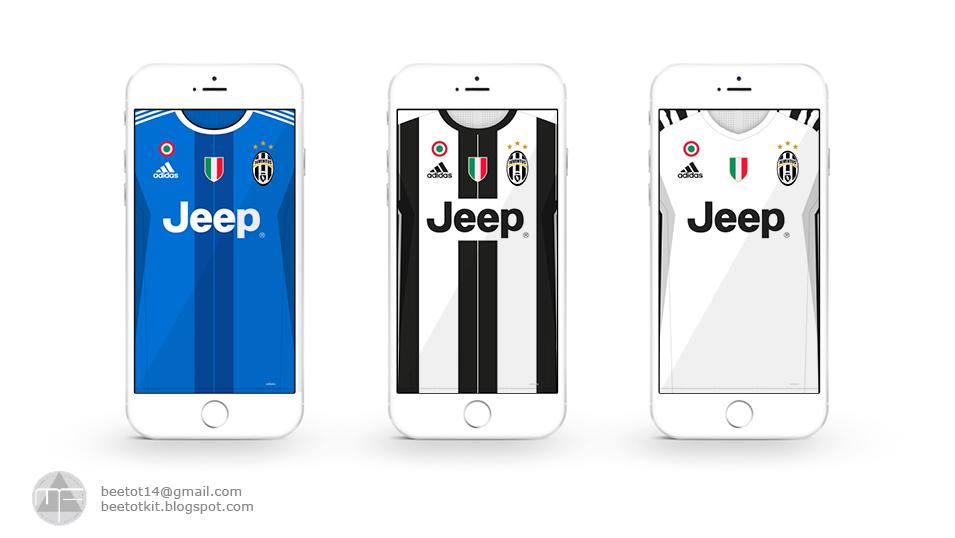 Beetot Kit: Juventus Kit 16/17 Iphone 6 Wallpaper